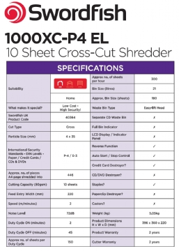 1000XC-P4 EL 10-sheet Cross-Cut